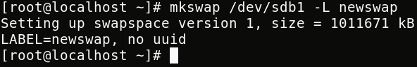 "Create Swap Partition with ""mkswap"""