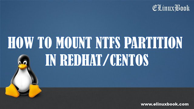 HOW TO MOUNT NTFS PARTITION IN REDHAT/CENTOS