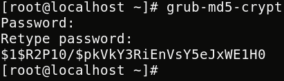 GRUB Password Generated
