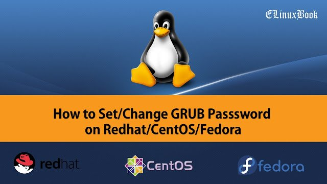 SET/CHANGE GRUB BOOL LOADER PASSWORD IN