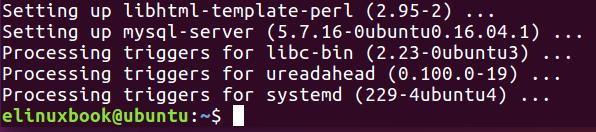 MySQL Server Installed Successfully