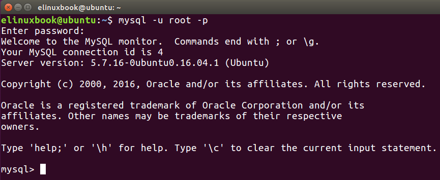 Create a Database in MySQL Server