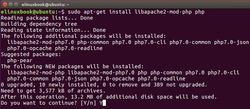 Installing PHP