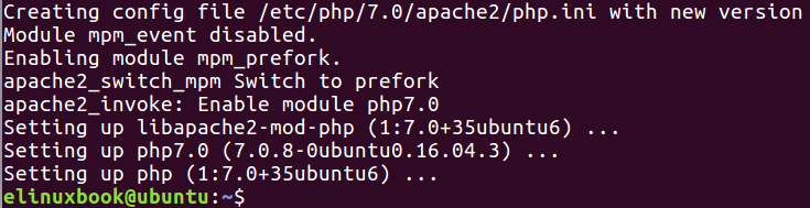 PHP Installed Successfully