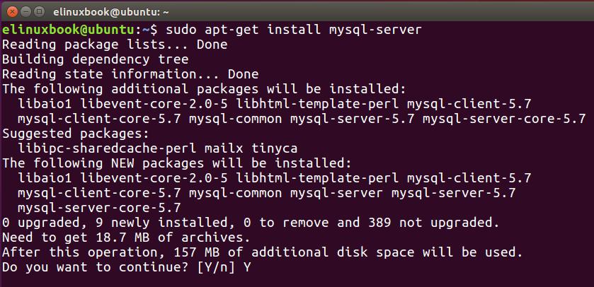 Installing MySQL Server