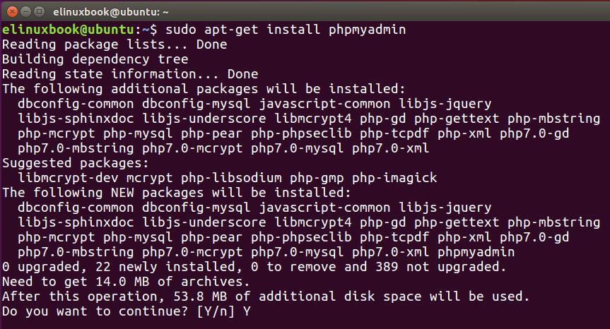 Installing PHPMyAdmin