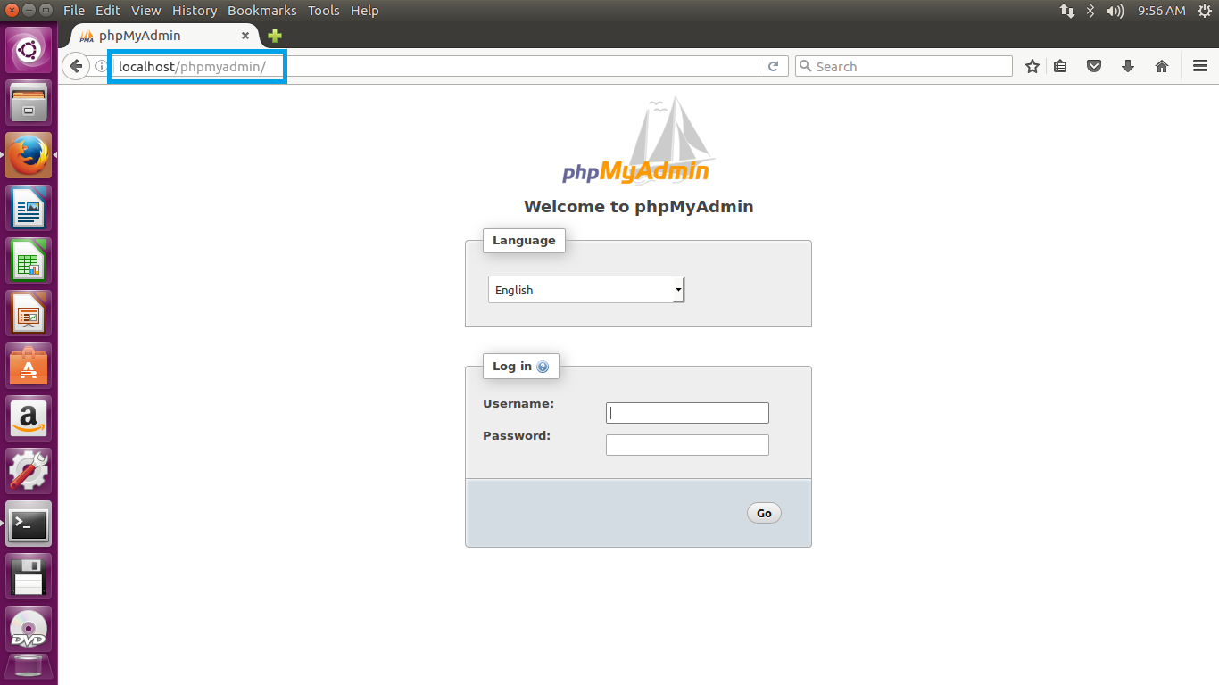 Accessing PHPMyAdmin Web Access