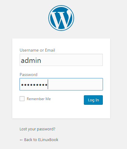 Logging in WordPress