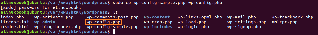 Create WordPress Configuration File