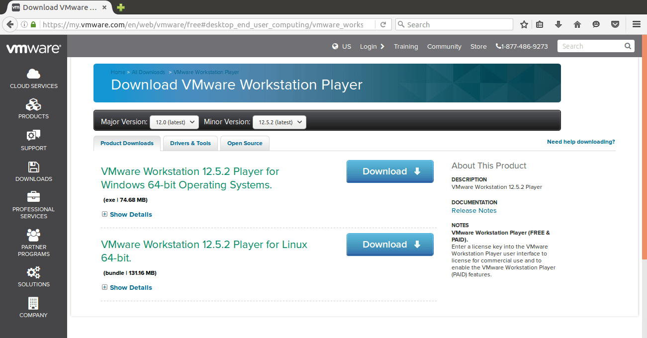 HOW TO INSTALL VMWARE PLAYER 12 ON UBUNTU 16 04