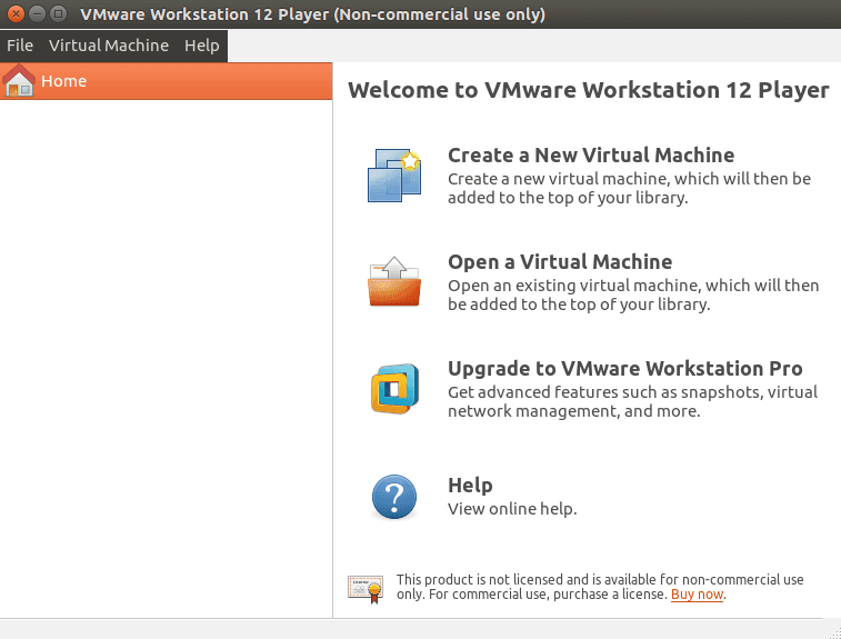 Vmware Workstation Player 12 Started