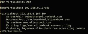 Create VirtualHost in Apache Web Server