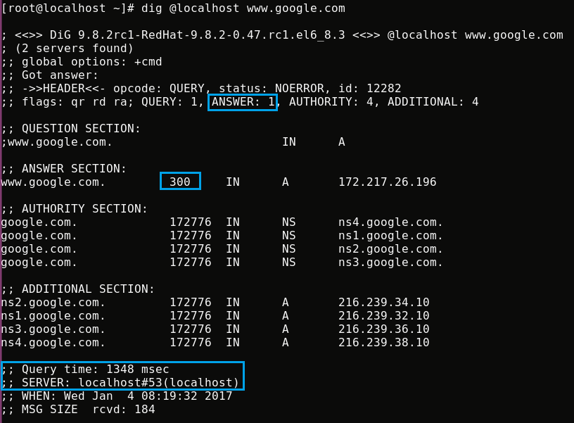 HOW TO INSTALL AND CONFIGURE CACHING ONLY DNS SERVER IN RHEL/CENTOS