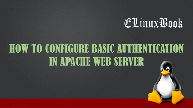 how to configure basic authentication in apache web server