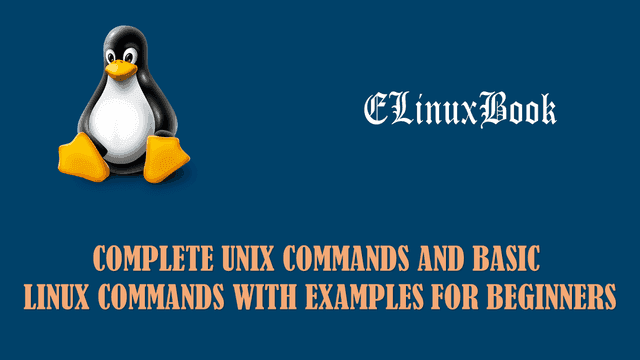 Unix Commands and Basic Linux Commands with Examples