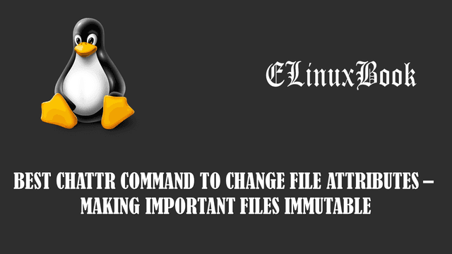 chattr command to change file attributes – making important files immutable