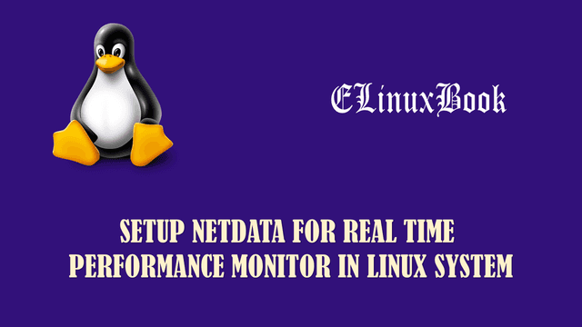 NETDATA FOR REAL TIME PERFORMANCE MONITOR