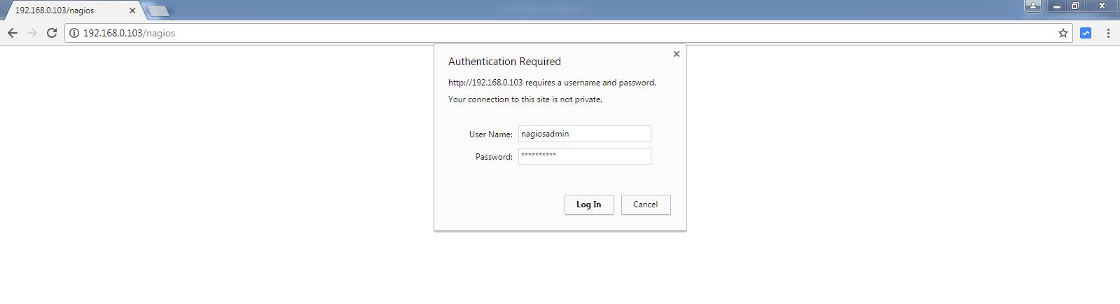 Nagios Core Authentication
