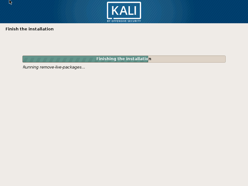 Finishing Kali Linux Installation