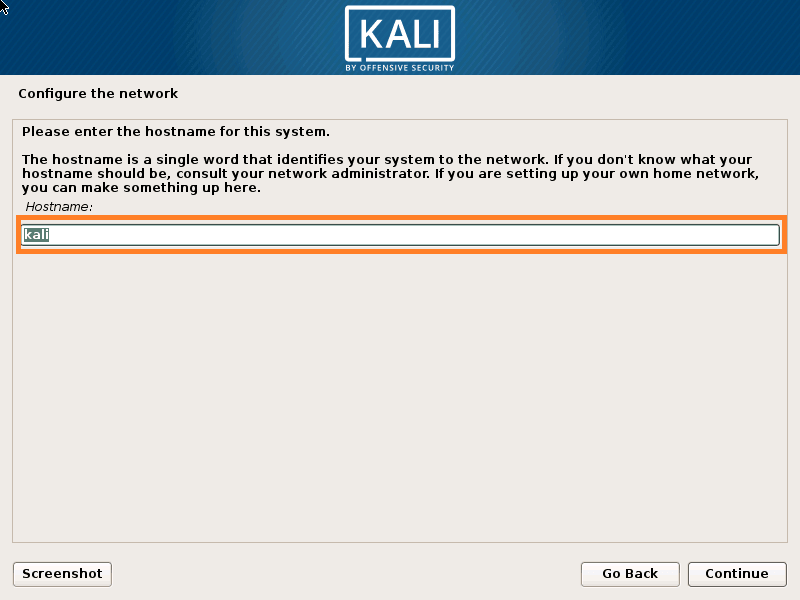 Set Hostname for Kali Linux