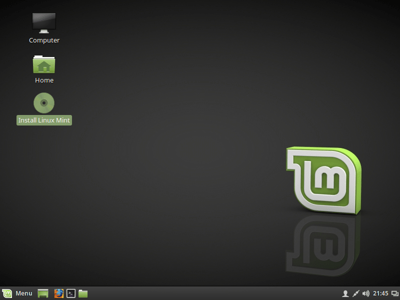 PORTABLE DESKTOP OF LINUX MINT 18
