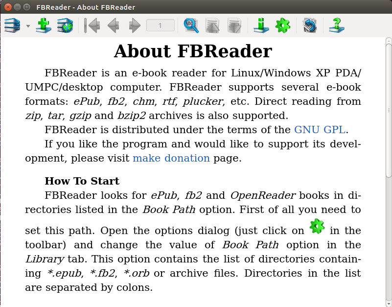 FBREADER EPUB EBOOK READER