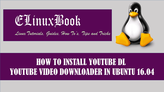 HOW TO INSTALL YOUTUBE DL YOUTUBE VIDEO DOWNLOADER IN UBUNTU 16.04