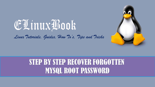 STEP BY STEP RECOVER FORGOTTEN MYSQL ROOT PASSWORD