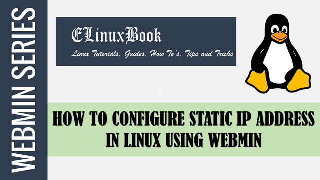 how to configure static ip address in linux using webmin