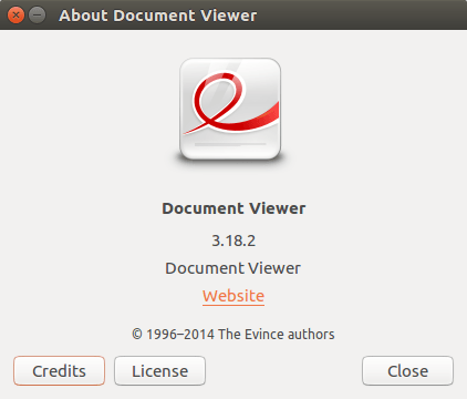 EVINCE DOCUMENT VIEWER PACKAGE VERSION